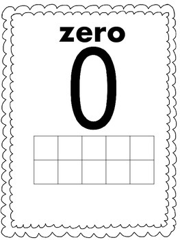 B&W Numbers 0-20 Number Line