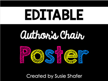 B/W Polka Dot Author's Chair Poster (FREEBIE!)