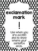 B/W Polka Dot Punctuation Posters (UPDATED and EDITABLE)