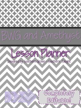 BWG and Amethyst Teacher Planner