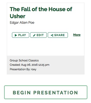 BYOD Close Reading Activity: Fall of the House of Usher