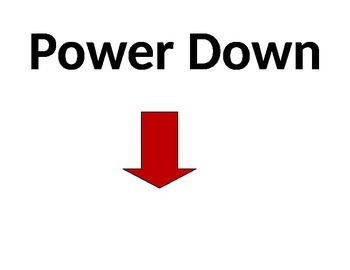 BYOT Power Down Sign