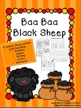 Baa Baa Black Sheep Activity Pack