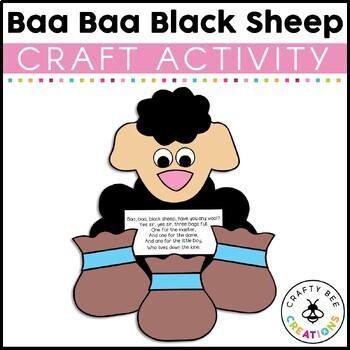 Baa Baa Black Sheep Cut and Paste