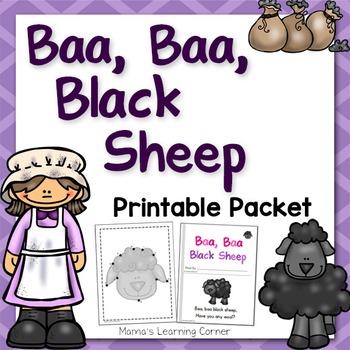 Baa Baa Black Sheep Nursery Rhyme Packet