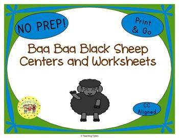 Baa Baa Black Sheep Worksheets Activities Games Printables