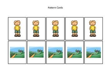 Baa Baa Black Sheep themed Pattern Cards #3 preschool educ