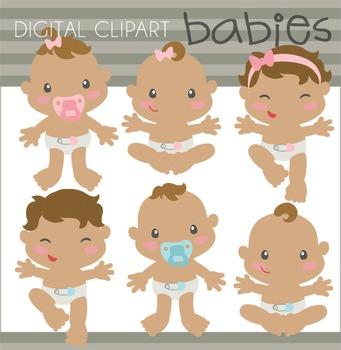 Babies Digital Clip Art