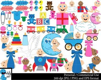 Babies Set Clipart Digital Clip Art Graphics 68 images cod30