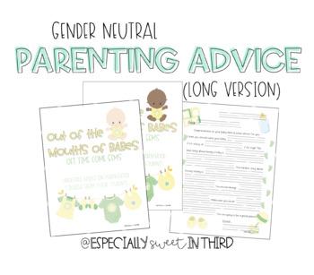 Baby Advice Book - Gender Neutral