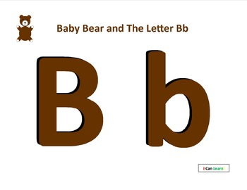 Baby Bear and The Letter Bb