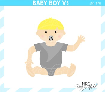 Baby Boy Clip Art V3 - Commercial Use Clipart