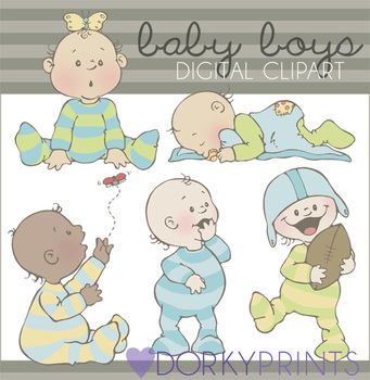 Baby Boy Digital Clip Art