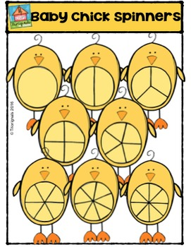 Baby Chick Spinners {P4 Clips Trioriginals Digital Clipart}