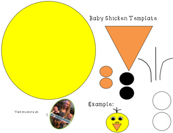 Baby Chicken Template: Color/Black and White (Easter)