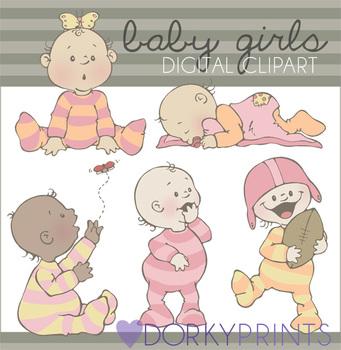 Baby Girl Digital Clip Art