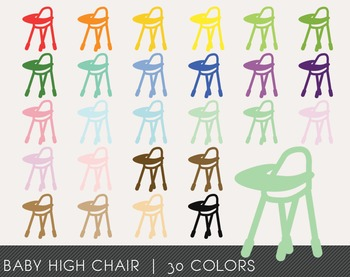 Baby High Chair Digital Clipart, Baby High Chair Graphics,