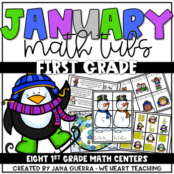 January Math Tubs: FIRST GRADE (winter-themed)