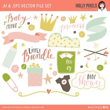 Baby Mine Girl Vector Clipart