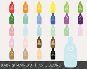 Baby Shampoo Digital Clipart, Baby Shampoo Graphics, Baby