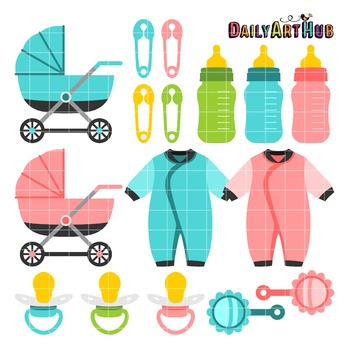 Baby Stuff Clip Art - Great for Art Class Projects!