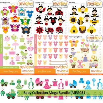 Baby clip art: Baby collection clipart mega bundle (9 packs)