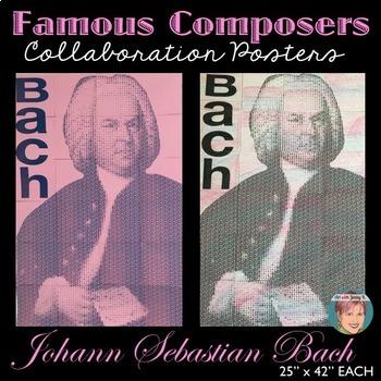 Bach Collaboration Portrait Poster - Famous Musicians Series