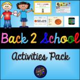 Back 2 School Activities