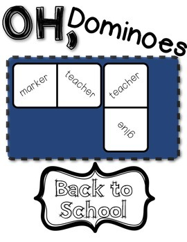 Back 2 School Fun with Dominoes!