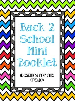 Back 2 School Mini Booklet
