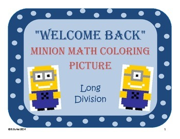 Back 2 School - Minion Math Coloring Picture - Long Division