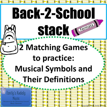 Back-2-School Stack-Music Symbols