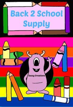 Back 2 School Supply