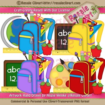 Back Packs 2 ClipArt - Commercial Use
