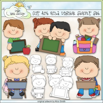Back To School Clip Art - Students Clip Art - CU Clip Art & B&W