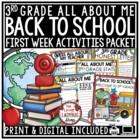 Back to School Activities 3rd Grade • First Week of School 3rd Grade