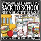Back To School Activities 2nd Grade •  First Week of School Activities 2nd Grade