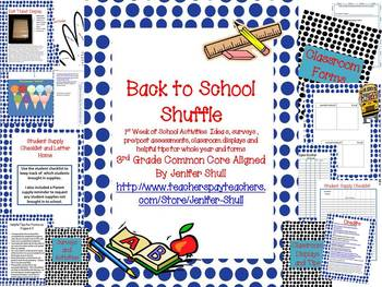 Back To School Activities Ideas, Surveys, Assessments, Dis