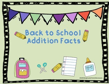 Back To School Addition Trail Game