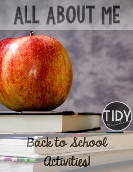 Back To School Activity Pack ( Choice Board, All About Me,