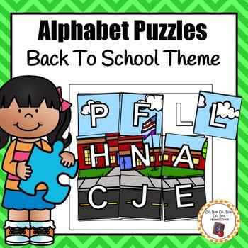 Back To School Alphabet Puzzles