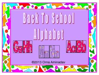 Back To School Alphabet-Red