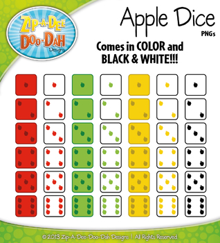 Apple Dice Clip Art Set — Over 40 Graphics!