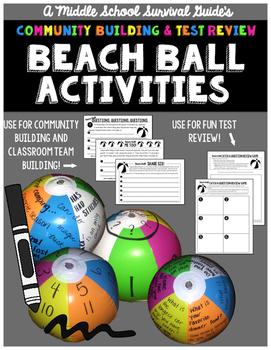 Back To School Beach Ball Activities