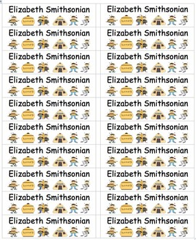 Bee Themed Labels Multi-Use-Smaller-Type Names