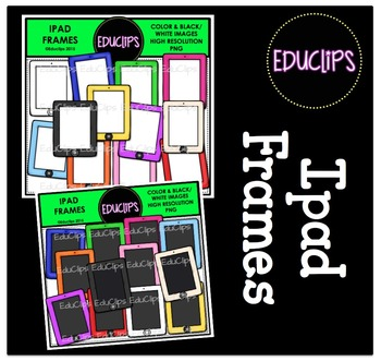 FREE - Ipad Frames Clip Art Bundle {Educlips Clipart}