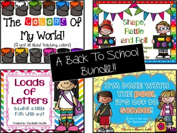 Back To School Bundle{Colors, Shapes, Letters and Review o