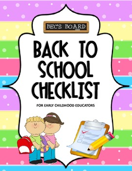 Back To School Checklist for Early Childhood Educators
