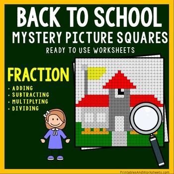Back To School Coloring Worksheets - Add, Subtract, Multip