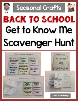 Back To School Craft - Get To Know Classmates Scavenger Hu